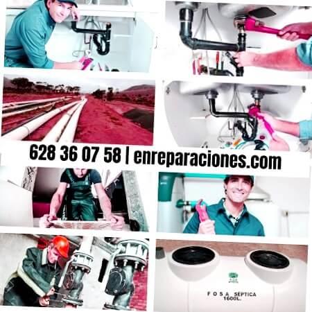 Fontaneros cambiando tuberías San Andrés del Rabanedo